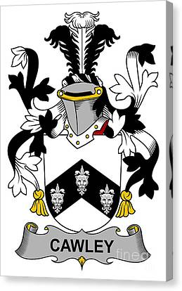 Cawley Coat Of Arms Irish Canvas Print