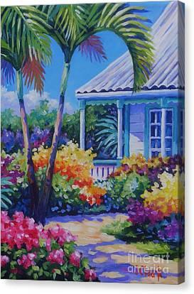 Cayman Yard Canvas Print