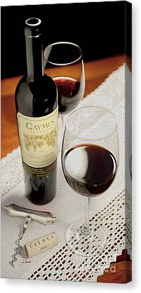 Caymus On Linen Painting Canvas Print by Jon Neidert