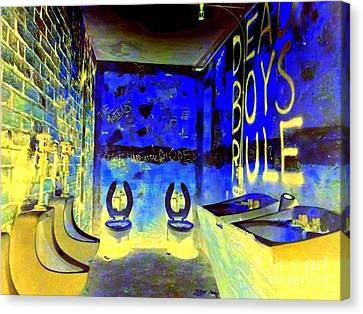 Cbgb's Notorious Mens Room Canvas Print by Ed Weidman