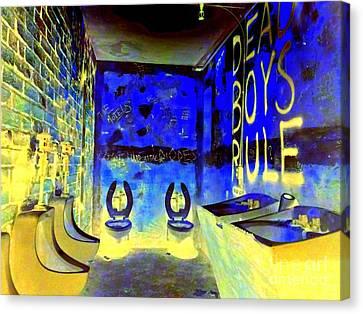 Cbgb's Notorious Mens Room Canvas Print