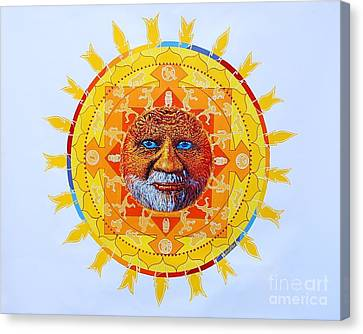 Cbs Sunday Morning Sun Mandala Canvas Print