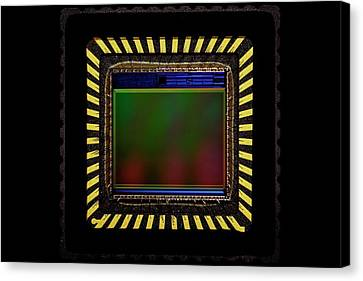Ccd Camera Sensor Canvas Print by Antonio Romero
