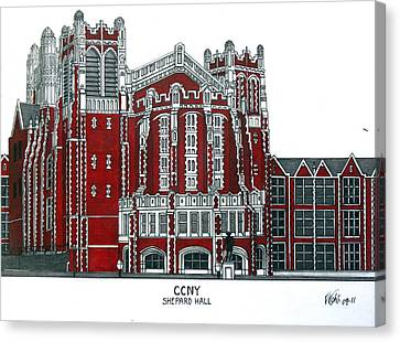 Ccny Shepard Hall Canvas Print by Frederic Kohli