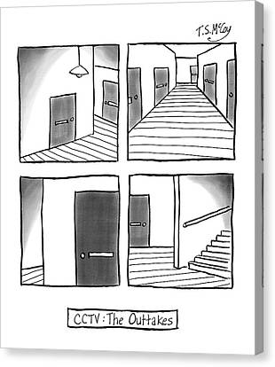Cctv: The Outtakes -- Four Panels Of Security Canvas Print by T.S. McCoy