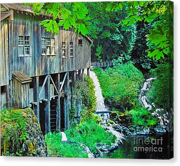 Cedar Creek Grist Mill Canvas Print by L J Oakes
