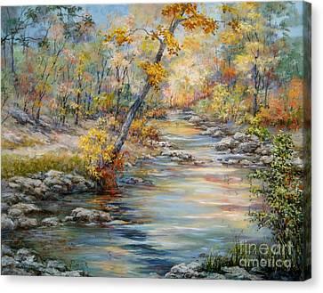 Cedar Creek Trail Canvas Print by Virginia Potter