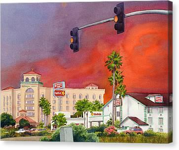 Emergency Canvas Print - Cedar Fire San Diego 2003 by Mary Helmreich