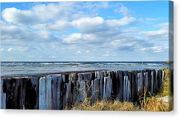 Cedar Island Gale Canvas Print by Karen Rhodes