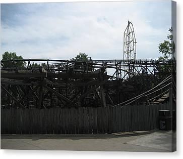 Cedar Point - Cedar Creek Mine Ride - 12121 Canvas Print by DC Photographer