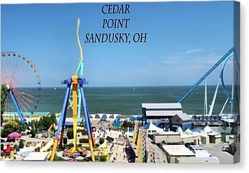 Cedar Point In Sandusky Ohio Canvas Print by Dan Sproul