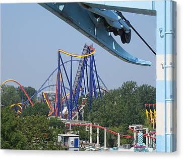 Cedar Point - Mantis - 121211 Canvas Print by DC Photographer
