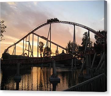 Maverick Canvas Print - Cedar Point - Maverick - 12121 by DC Photographer