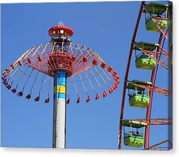 Cedar Point Rides Canvas Print by Dan Sproul