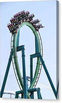 Cedar Point Roller Coaster Canvas Print