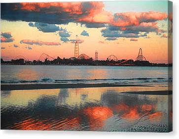 Roller Coaster Canvas Print - Cedar Point by Sarah Kasper