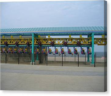 Cedar Point - Wicked Twister - 121211 Canvas Print by DC Photographer