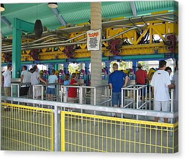 Cedar Point - Wicked Twister - 12123 Canvas Print by DC Photographer