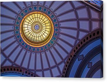 Canvas Print featuring the photograph Ceiling In The Chattanooga Choo Choo Train Depot by Susan  McMenamin