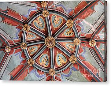 Ceiling Medallion Tepoztlan Canvas Print by Linda Queally