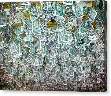 James Insogna Canvas Print - Ceiling Of Dollar Bills  by James BO  Insogna