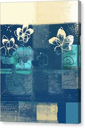 Celebrate - Blue3tx2 Canvas Print by Variance Collections
