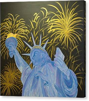 Celebrate Freedom Canvas Print by Cheryl Lynn Looker