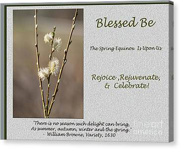 Canvas Print - Celebrate The Spring Equinox Card by Andrew Govan Dantzler