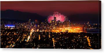 Celebration Of Light 2014 - Day 3 - Japan Canvas Print