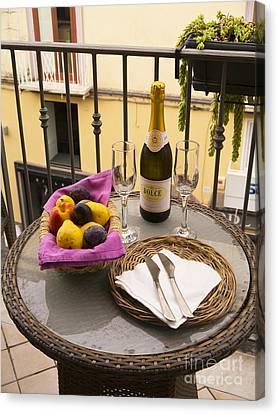 Celebration On An Italian Balcony Canvas Print by Brenda Kean