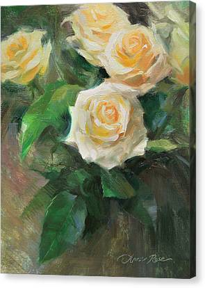 Celebration Roses Canvas Print by Anna Rose Bain