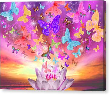 Celestial Butterfly Canvas Print by Alixandra Mullins