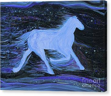 Ghostly Canvas Print - Celestial By Jrr by First Star Art