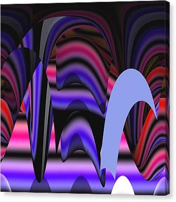 Celestial Cave Digital Art Canvas Print by Georgeta  Blanaru