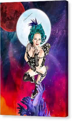 Celestial Goddess Of Death Arise  Canvas Print by A Sensual Portrait
