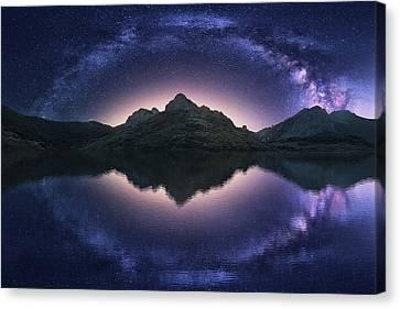 Universe Canvas Print - Celestial Illusion by Carlos F. Turienzo