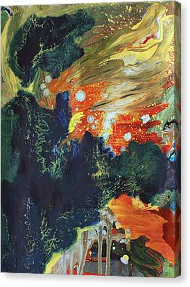 Celestial Landscape Canvas Print by Ethel Vrana