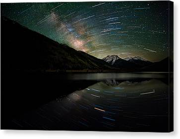 Celestial Rotation In The Colorado San Juans Canvas Print by Mike Berenson