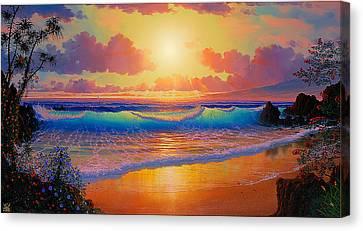 Celestial Shores Canvas Print by Loren Adams