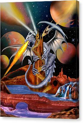 Celestian Dragon Canvas Print by Glenn Holbrook