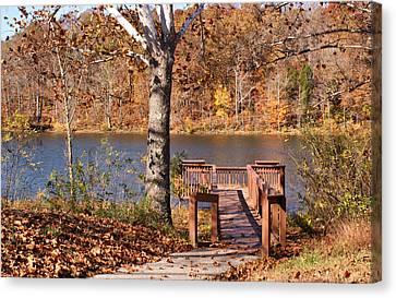 Celina Lake Path Canvas Print by Sandy Keeton