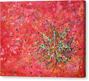 Cell No. 3 Canvas Print by Angela Canada-Hopkins