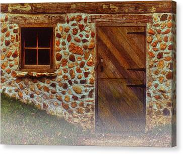 Cellar Door In The Mist Canvas Print by Jack Zulli