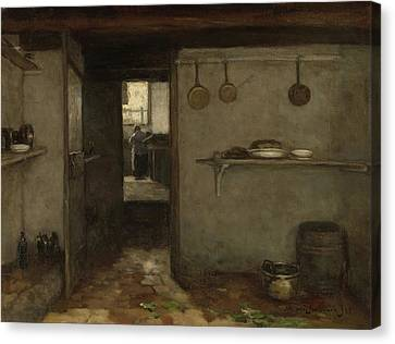 Cellar Of The Artist's Home In The Hague Canvas Print by Litz Collection