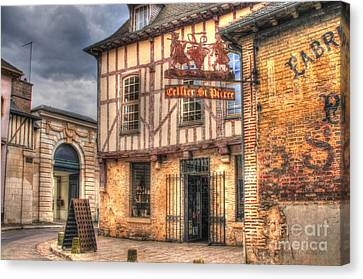 Cellier St. Pierre Troyes France Canvas Print by Malu Couttolenc