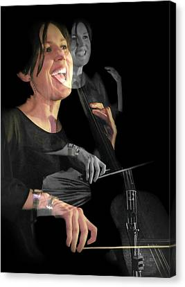 Cellist Canvas Print by Diana Angstadt