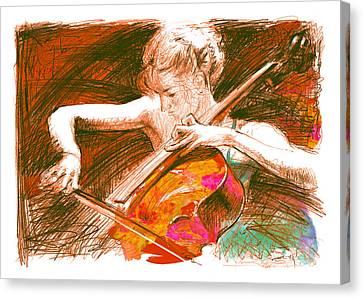 Cello-solo Canvas Print by Youri Ivanov