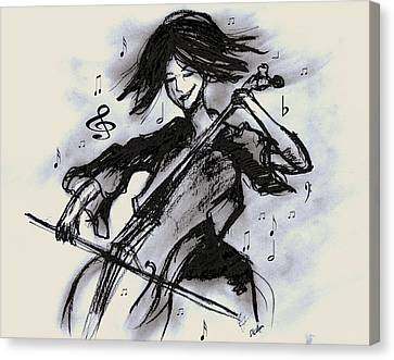 Cello Song Canvas Print