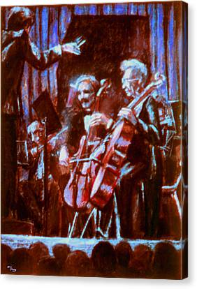 Cello_concerto_sketch Canvas Print by Dan Terry