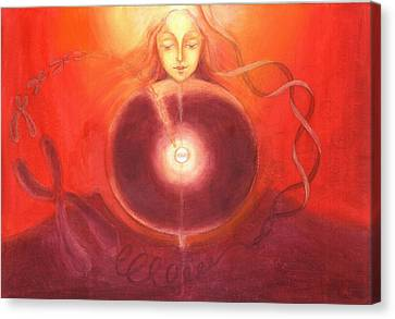 Cellular Yoga Canvas Print by Shiva Vangara